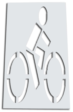 Bike Lane Stencils for Bicycle Paths and roads shared with bike traffic