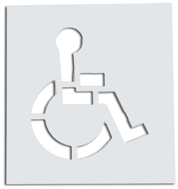 Handicap ADA Stencils for Parking Lot Stalls and Reserved Parking for the Disabled