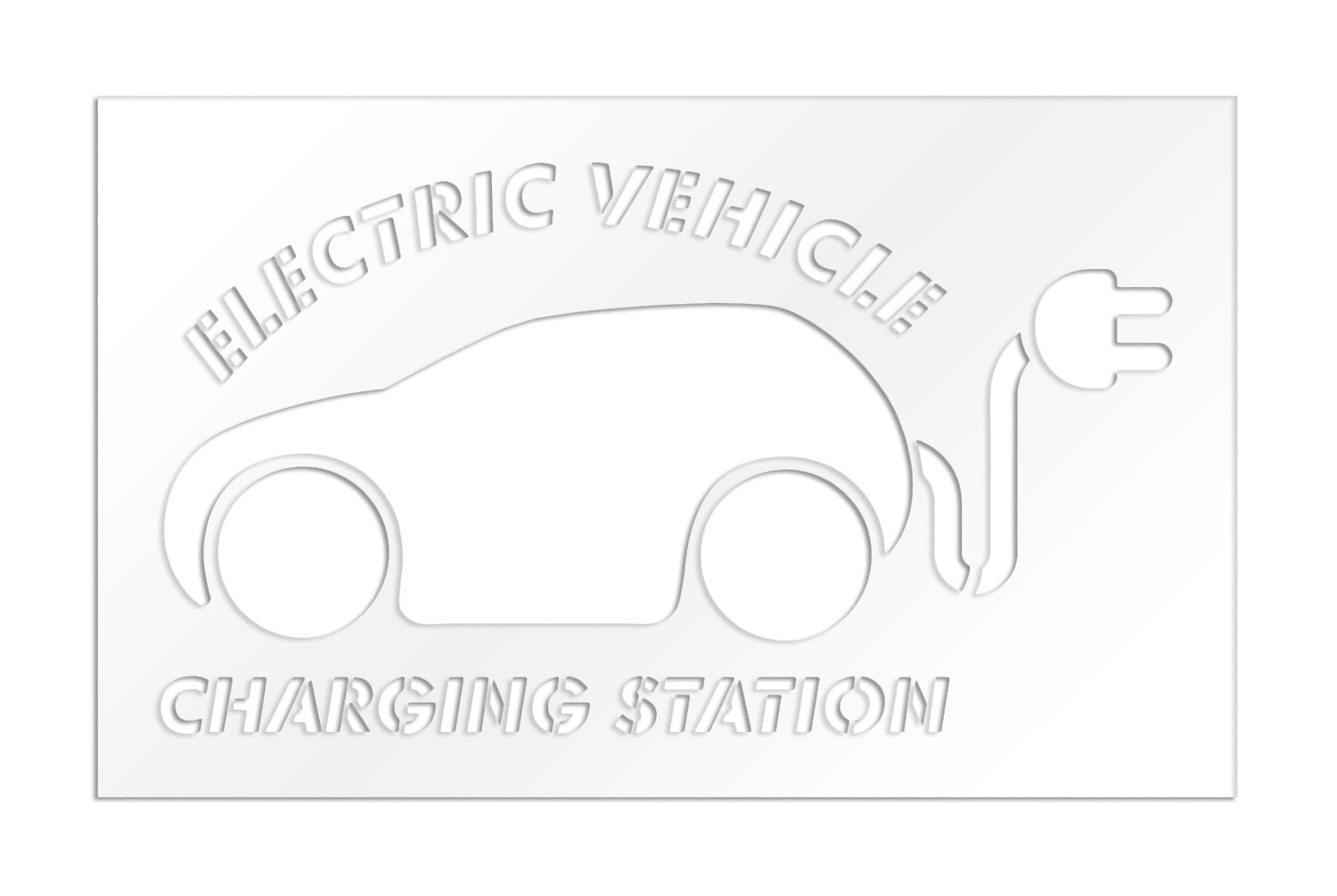 Parking Lot Stencils 36 In Car With Plug With Electric