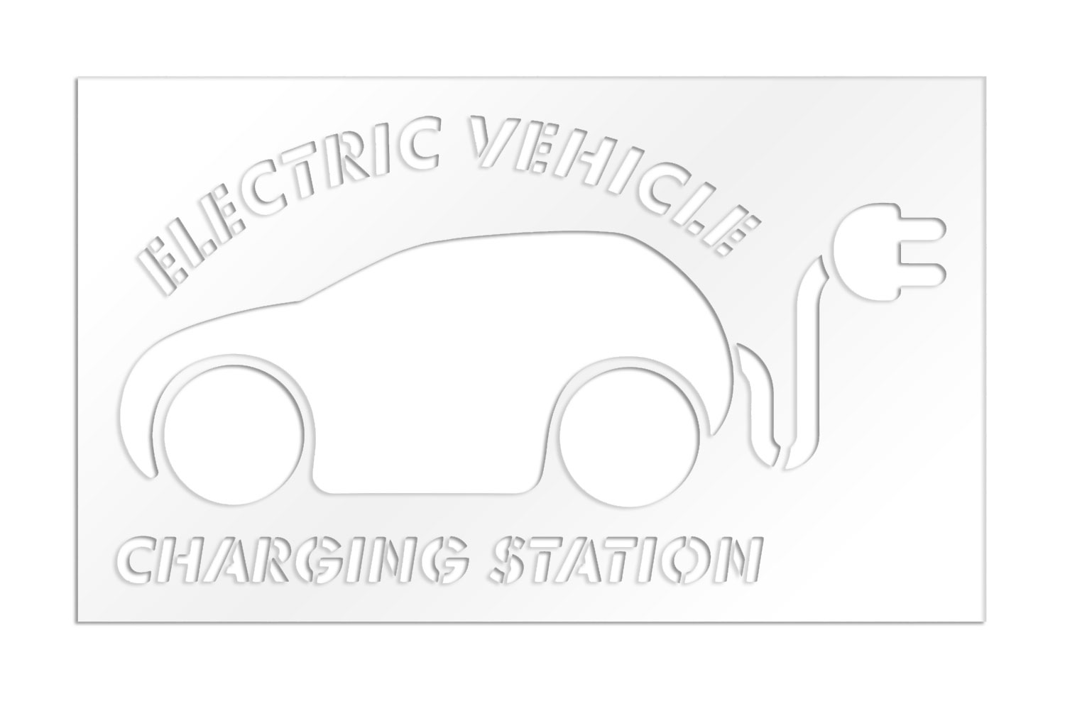 Parking Lot Stencils 48 In Car With Plug With Electric
